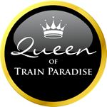 Queen of Train Paradise Badge